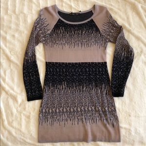 Long sleeve cotton sweater dress